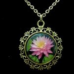 'Sunfire Sunny Day' Waterlily Jewelry Collection Pendant